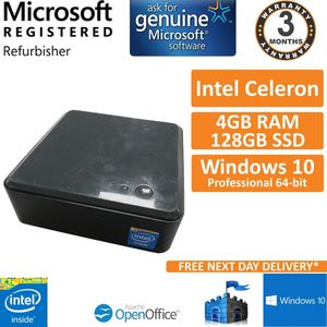 Intel NUC Mini PC Celeron 847E 1.1GHz 4GB 128GB SSD Win 10