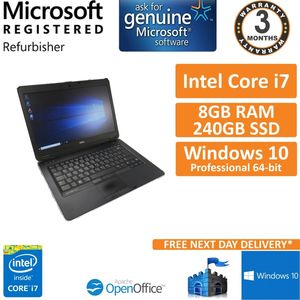 "Dell Latitude E6440 Core i7-4600M @ 2.9GHz 240GB SSD 8GB Win10 14"" C (See Desc)"
