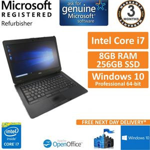 Dell Latitude E6440 Core i7-4600M @ 2.9GHz 256GB SSD 8GB Windows 10 14""