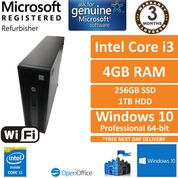 HP ProDesk 600 G2 SFF Core i3 3.7GHz 4GB 256GB + 1TB Windows 10 Pro Desktop
