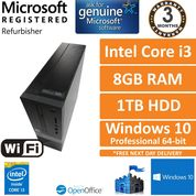Dell Vostro 3250 i3-6100 @ 3.70GHz, 8GB, 1TB, Windows 10 Pro SFF