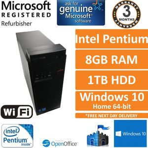Lenovo E50-00 Intel Pentium J2900 2.4GHz 8GB 1TB Windows 10 Desktop PC