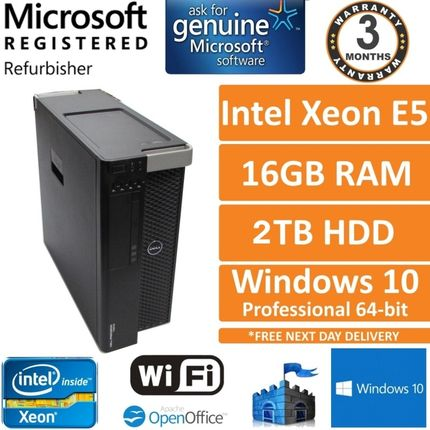 Dell Precision T3610 Intel Xeon E5-1607 V2 3Ghz 16GB 2TB Win10 Pro