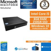 HP 260 G2 DM Core i5-6200u @ 2.30GHz 8GB 250GB SSD Win10 Pro PC