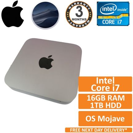Apple Mac Mini A1347 i7-3720QM 2.6GHz 16GB 1TB Late 2012 OS Mojave Missing Cover