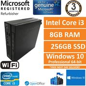 Lenovo ThinkCentre M72e, Intel Core i3 2.6GHz 8GB 256GB SSD Win10 Pro USFF PC