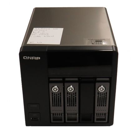 QNAP TS-412 4 Bay NAS Enclosure (4X 500GB) Hard Drives) No PSU B