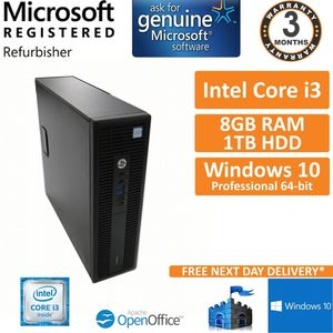 HP ProDesk 600 G2 SFF Core i3 3.7GHz 8GB 1TB Win10 Pro Desktop