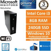 HP ProDesk 600 G2 SFF Core i3-6100 @ 3.7GHz 8GB 240GB Win10 Pro Desktop