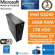 HP EliteDesk 800 G1 Intel G3240 @ 3.1GHz 16GB 1TB Wi-Fi Win10 Pro SFF