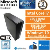 HP EliteDesk 800 G3 Core i7-7700 @ 3.6GHz 16GB 2TB+256G Win10 Pro Desktop SFF