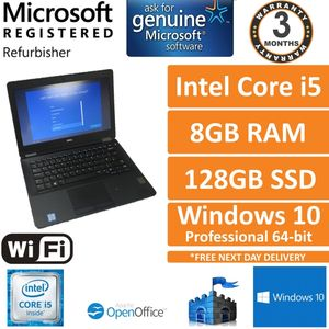 "Dell Latitude E7270 Intel i5-6300u, 8GB DDR4, 128GB SSD 12.5"" Win10 Laptop (C)"