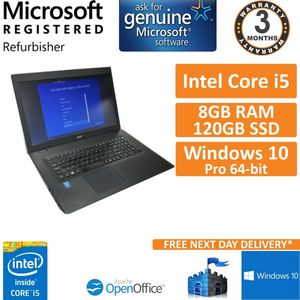 Acer Travelmate P277-M-55PX i5-5200u @ 2.2GHz 8GB DDR3 120GB SSD WIN 10 17.3""