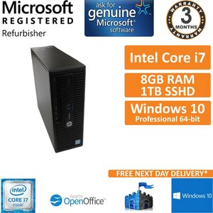 HP ProDesk 400 G3 SFF Intel Core i7-6700 3.4GHz 8GB 1TB Windows 10 Pro Desktop