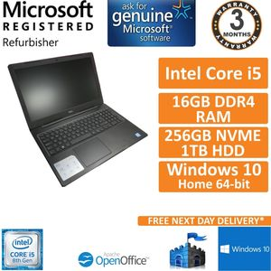 Dell Vostro 3580 i5-8265U@1.6GHz 16GB DDR4 256GB NVME + 1TB HDD Win10 Pro 15.6""