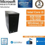 HP 280 G2 MT, Intel Core i3-6100 3.7GHz 4GB 1TB Win10 Pro Desktop PC