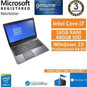 "HP ZBook 15 G2 Intel i7 4710MQ 16GB DDR3 480GB SSD Windows 10 15.6"" Laptop"