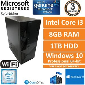 Dell Vostro 3650 Intel Core i3-6100 @ 3.70GHz, 8GB DDR3, 1TB, Windows 10 Pro SFF