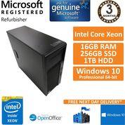 HP Z230, Intel Xeon E3-1245 v3 @ 3.4GHz, 16GB, 1TB, 256GB Win 10 Pro Workstation