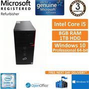 Fujitsu Esprimo P556 Core i5-6400 @ 2.7GHz 8GB 1TB Win10 Pro Desktop PC