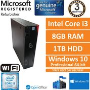 Fujitsu Esprimo D556 Core i3-6100@3.7GHz 8GB 1TB Windows 10 Pro Desktop PC