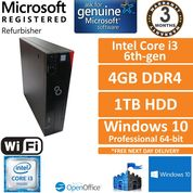 Fujitsu Esprimo D556 E85+ i3-6100 3.7GHz 4GB DDR4 1TB Win 10 Pro Desktop SFF PC