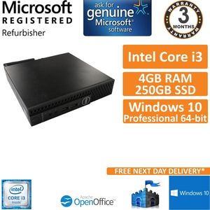 Dell Optiplex 3050 USFF Intel i3-6100T @ 3.2GHz 8GB 240GB SSD Win 10 Desktop PC