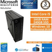Lenovo ThinkCentre M73 Core i5-4570T 2.90GHz 16GB 240 SSD with Optical Drive