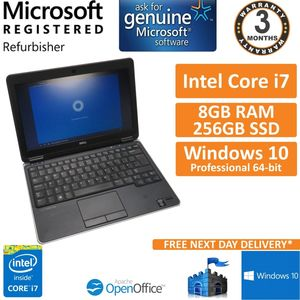 Dell Latitude E7240, Core i7-4600u @ 2.1GHz, 8GB 256GB SSD Win10 12.5 B 3