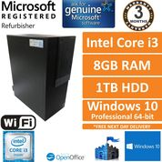 Dell Optiplex 3040 i3-6100 @ 3.70GHz,AMD Radeon R5340, 8GB Ram,1TB Win 10 Pro PC