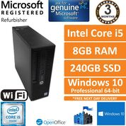 HP ProDesk 400 G3 SFF Intel Core i5-6500 3.2GHz 8GB 240GB SSD Win 10 Pro Desktop