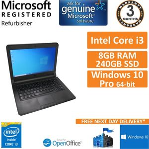"Dell Latitude 3340 i3-4030U@1.90GHz 8GB 240GB SSD Win 10 13.3"" Laptop (C)"