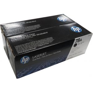 Genuine HP CE278AD 78A Black Toner Cartridge Sealed Toner (Dual Pack)