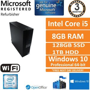 Dell Optiplex 5040 SFF i5-6500 @ 3.20GHz, 8GB RAM, 128GB SSD + 1TB HDD Grade B 1