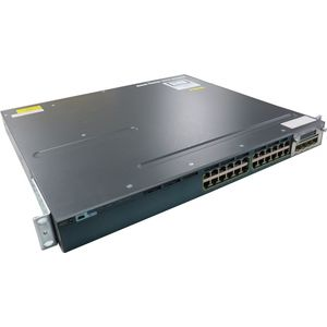 Cisco 3560 X-Series 24 Port PoE 3560X-24T-S With Ears + 1G Module