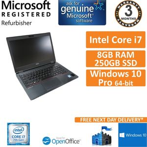 Fujitsu LifeBook U727 i7-7500u @ 2.7GHz 8GB DDR4 250GB SSD Win 10 Laptop B