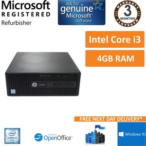 HP ProDesk 400 G3 SFF Intel Core i3-6100 3.7GHz 4GB Power On Test Only