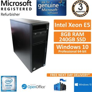HP Z440 Workstation Xeon E5-1603V3 @ 2.80GHz 8GB DDR4 ECC 240GB SSD Win10 PC