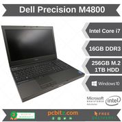 """Dell Precision M4800 Core i7-4810MQ 2.8GHz 16GB 256GB+1TB Win10 Laptop 15.6"""""""