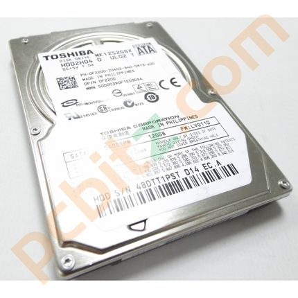 "Toshiba MK1252GSX 120GB SATA 2.5"" Laptop Hard Drive"
