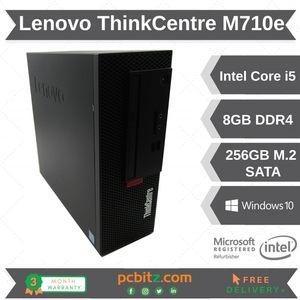 Lenovo ThinkCentre M710e Desktop i5-7400 3GHz 8GB DDR4 256GB SSD Win 10 Pro