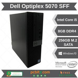 Dell Optiplex 5070, i5-9500 @ 3.00GHz, 8GB DDR4 RAM, 256GB SSD, SFF Desktop