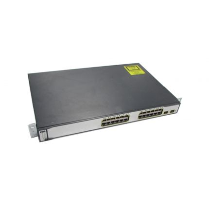 Cisco Catalyst WS-C3750-24PS-S 24-Port L3 Managed Switch With POE