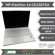 "HP Pavilion 14-CE1507SA i3-8145u @ 2.1GHz 8GB, 256GB SSD, Win 10 Home Laptop 14"""