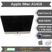 "Apple iMac 21.5"" A1418 Core i5-3330s 2.7GHz 8GB RAM 128SSD + 1TB HDD Catalina"