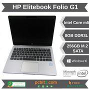"HP EliteBook Folio G1 m5-6Y54@1.1GHz 8GB 256GB SSD Win 10 Pro Laptop 12.5"""