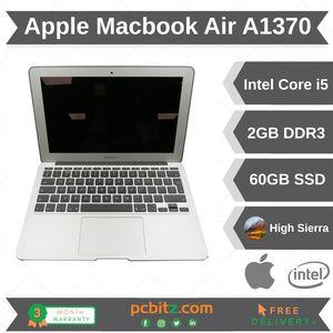 """Apple Macbook Air A1370 Core i5 1.6GHz 2GB 60GB Apple SSD High Sierra 11.6"""""""