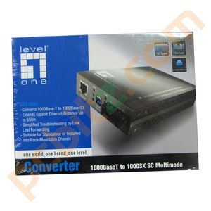 Level One GVT-4001 Gigabit Converter 1000BaseT to 1000SX SC Multimode