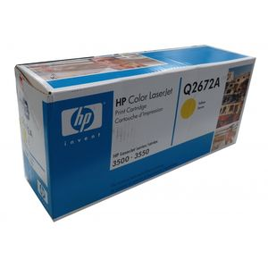 HP Color Laserjet 3500 3550 Genuine Yellow Toner Q2672A