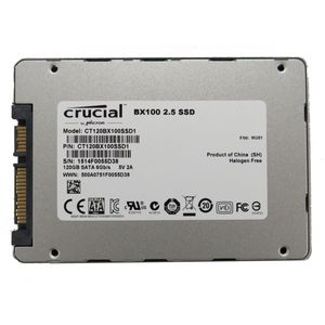 "Crucial BX100 CT120BX100SSD1 120GB SSD 2.5"" SATA III 6.0Gps Solid State"
